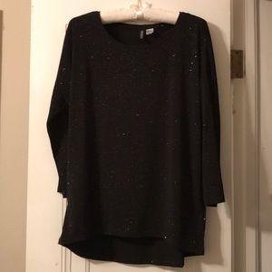 H&M glitter long sleeve t-shirt